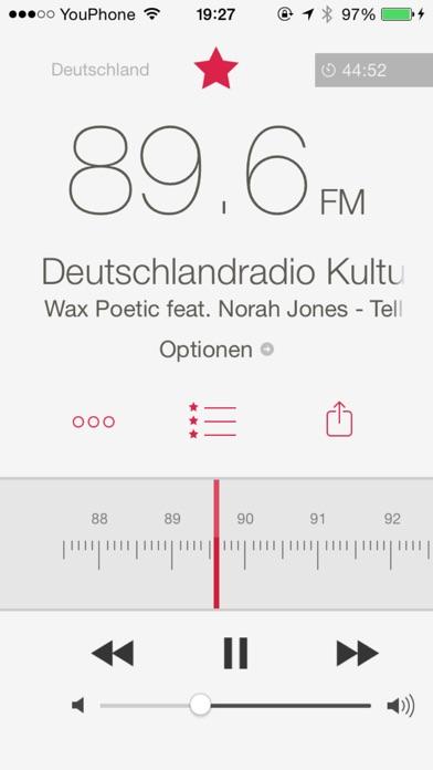 RadioApp - Ein einfaches Radio für iPhone und iPod touch Screenshot