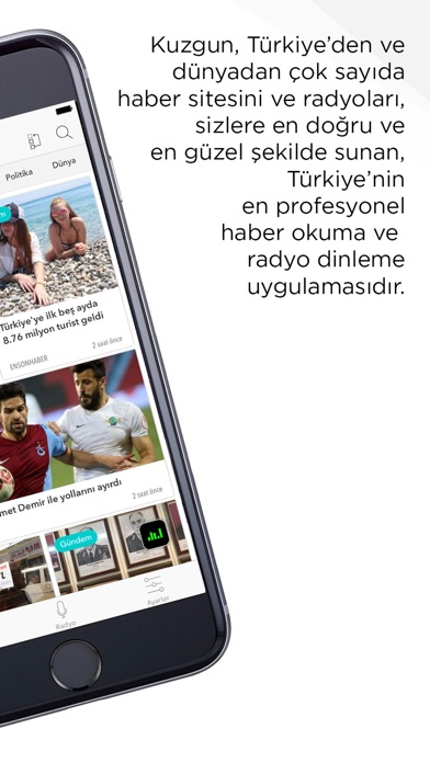 Kuzgun - Choose News Source Screenshot