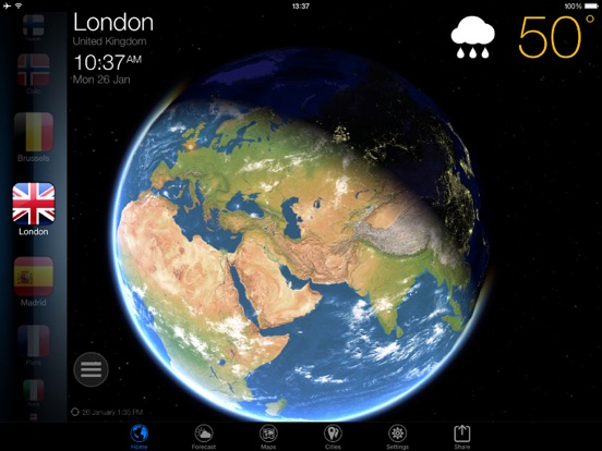 3D地球天気ウィジェット Screenshot