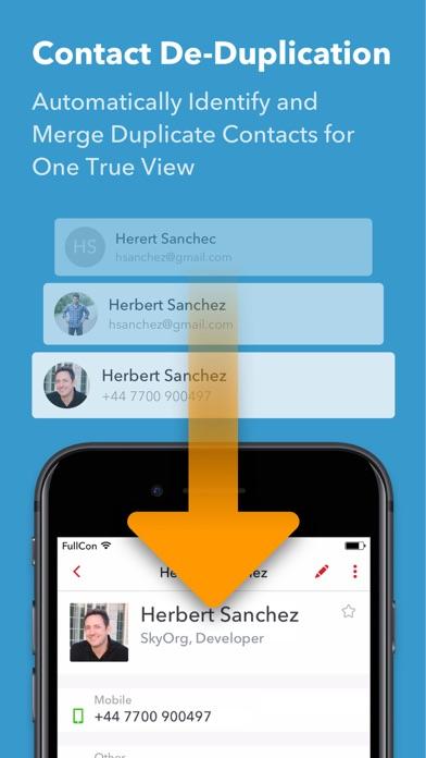 FullContact Kontaktmanager Screenshot