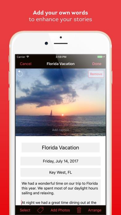 Screenshot do app Timebox Photo Journal