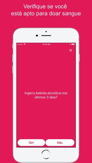 Screenshot do app +Sangue