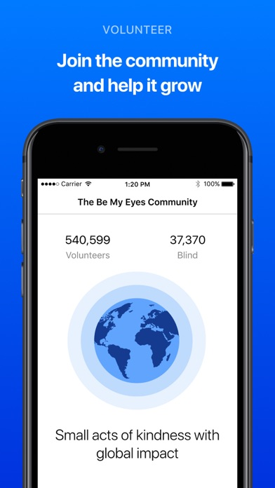 Be My Eyes – Helping the blind Screenshot