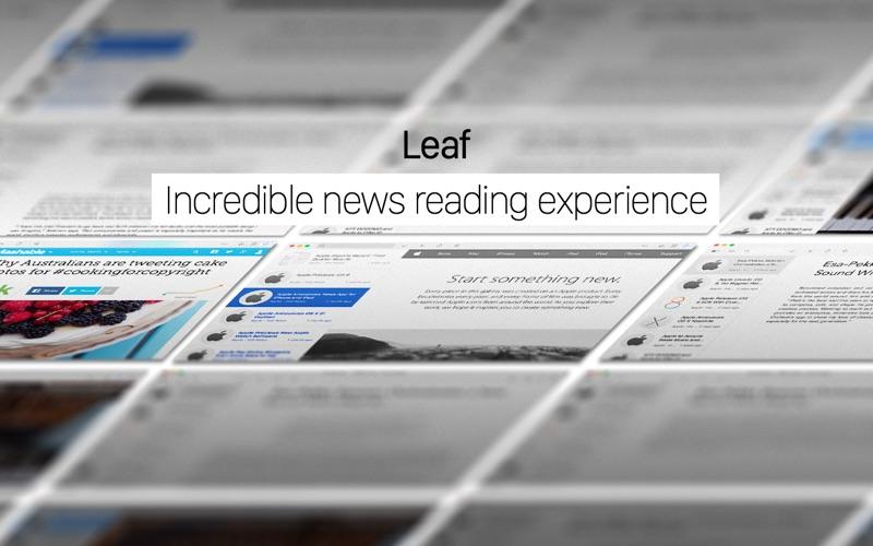 Screenshot do app Leaf - RSS News Reader
