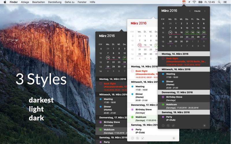 Calendar 366 Plus - Der Menüleisten Kalender! Screenshot