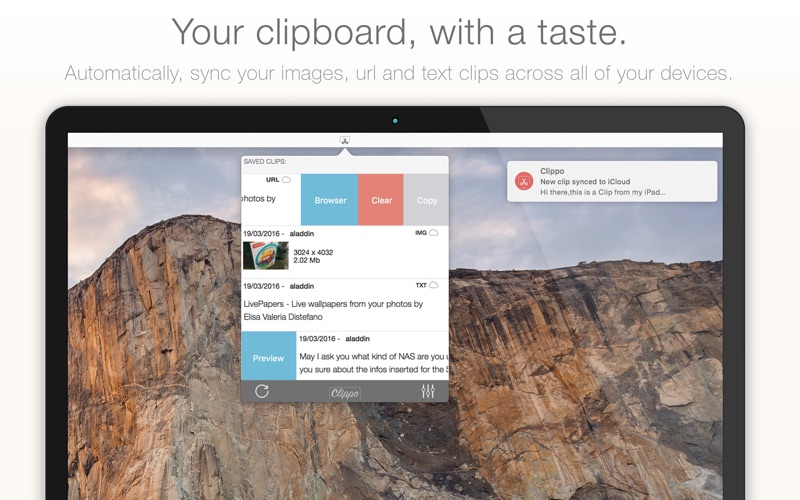 Clippo - Clipboard manager with a taste Screenshot