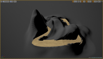 5. After applying spline to landscape.