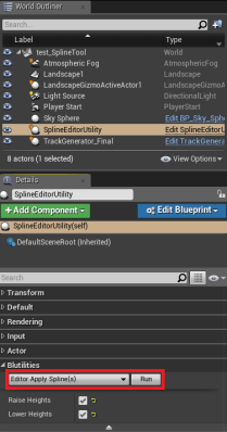 3. Running the custom event in the editor.