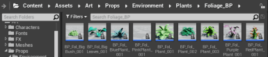 2. Importing the foliage assets.