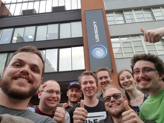 Visiting a nearby Ubisoft studio in Paris after showcasing the game.