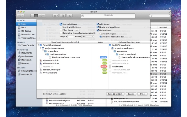 ForkLift - File Manager and FTP/SFTP/WebDAV/Amazon S3 client Screenshot
