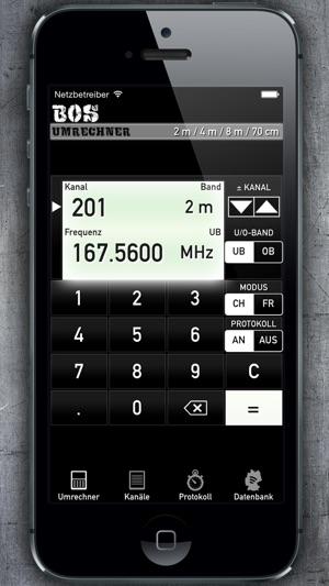 BOS-Umrechner Screenshot