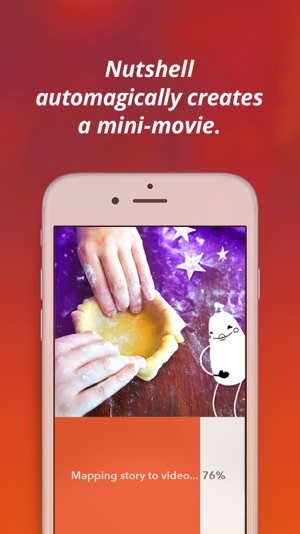 ‎Nutshell Camera: Instant mini-movies with text and animation. Screenshot