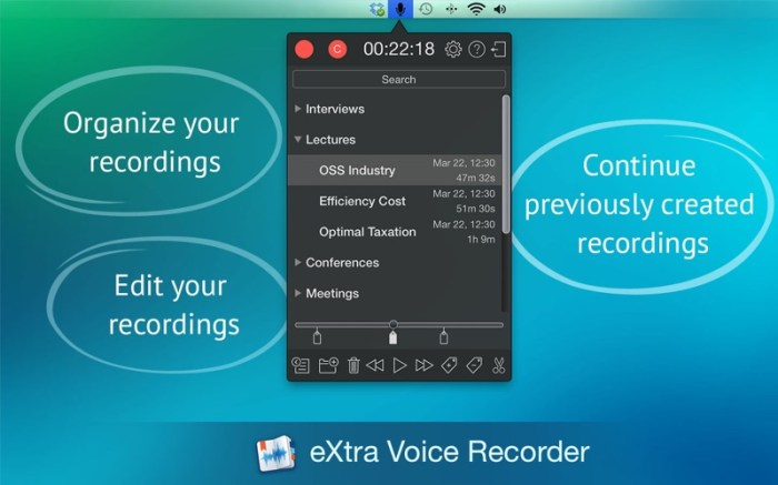 eXtra Voice Recorder Pro. Screenshot 01 vmxwxfy