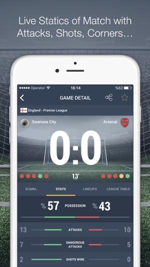 Super Football Live Scores Screenshot