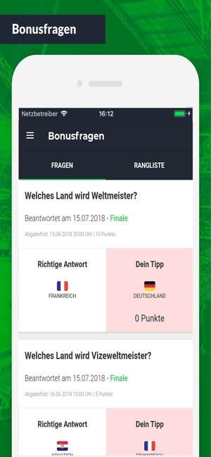 Halbzeit.app Screenshot