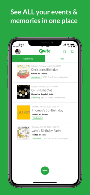 Evite: Party Invitations Screenshot
