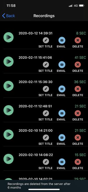 CallRec Lite - IntCall Screenshot