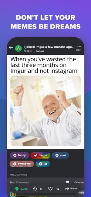 Imgur - Funny Meme & GIF Maker Screenshot