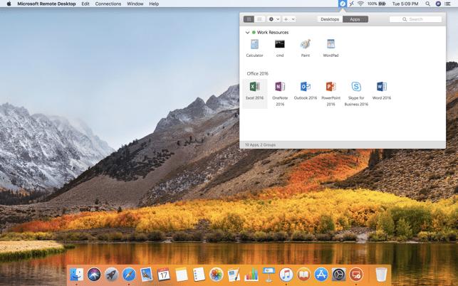 Microsoft Remote Desktop 10 Screenshot