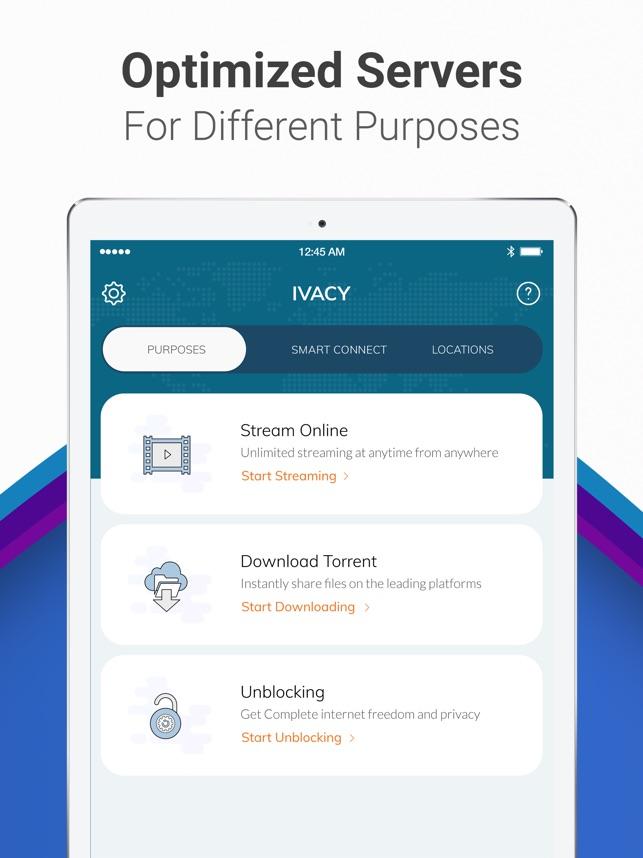 Ivacy VPN Screenshot