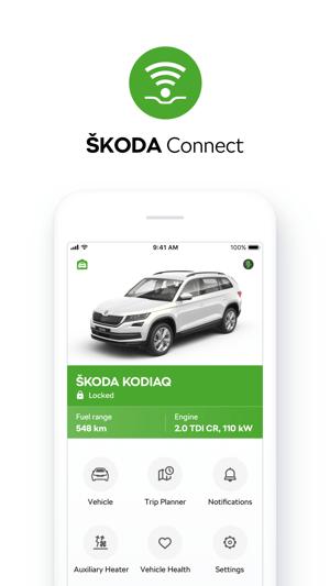 ŠKODA Connect Screenshot