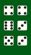 Dice White テーブルゲームに1個から6個のさいころスクリーンショット1