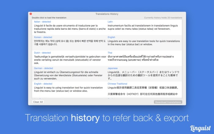 Linguist: Easy Translate App Screenshot 03 lg2i78n