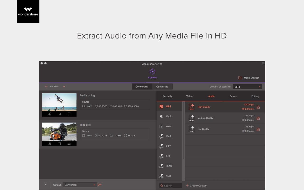 Wondershare Video Converter Pro Mac 破解版 强大的万能视频格式转换工具