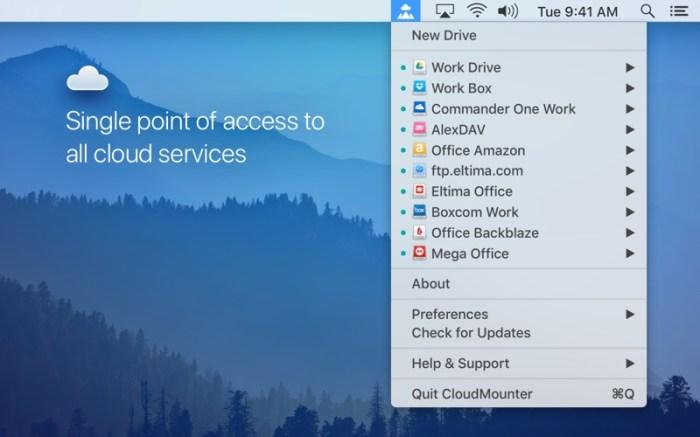 CloudMounter: cloud encryption Screenshot 01 57u4b3n