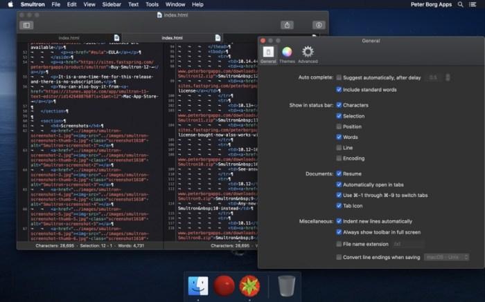 Smultron 12 - Text editor Screenshot 06 1f4qzmhn
