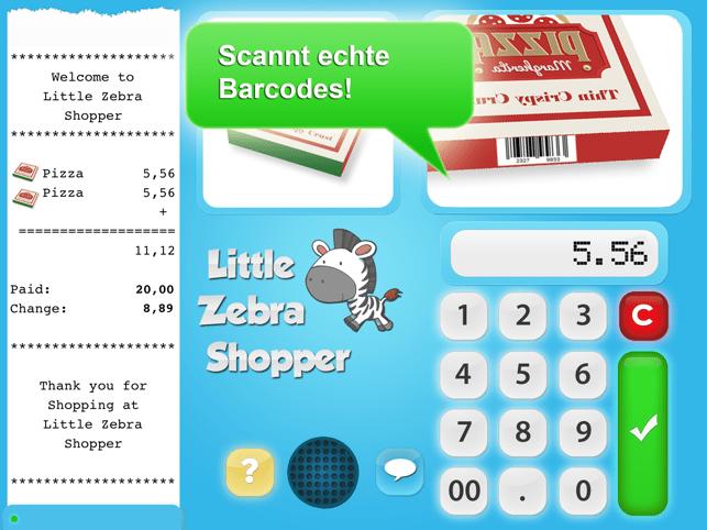 Little Zebra Shopper Gold Screenshot