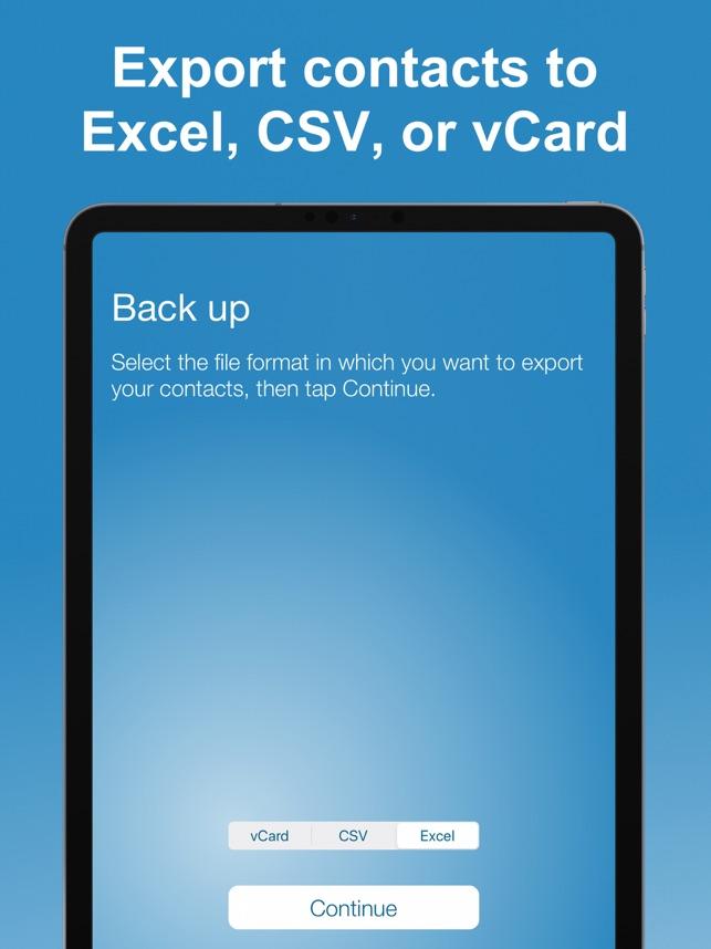 Export Contact Screenshot