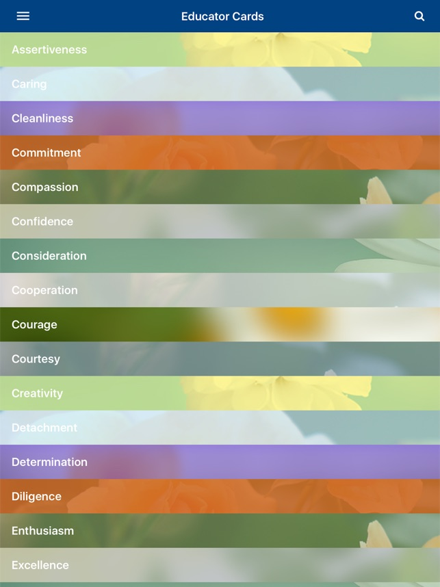 Virtues Educator Cards On The App