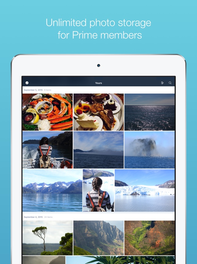 Prime Photos von Amazon Screenshot