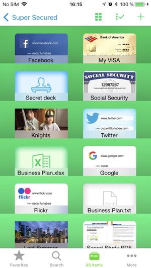 oneSafe 3 Screenshot