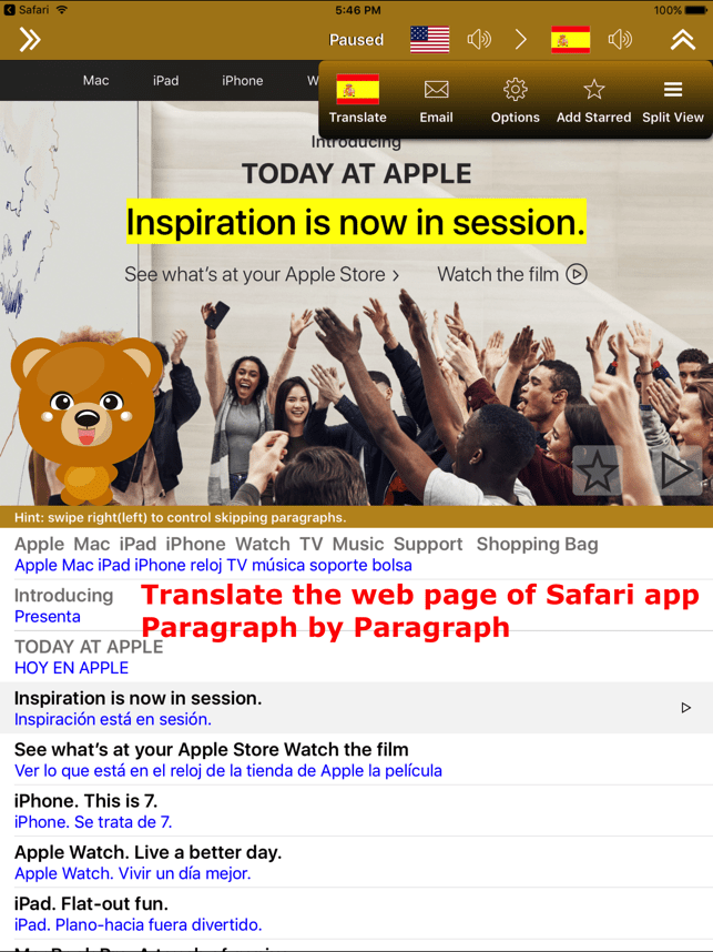 ‎Translate for Safari Screenshot