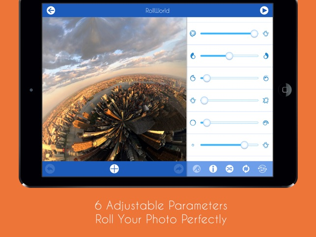‎RollWorld - Tiny Planet Photos And More Screenshot