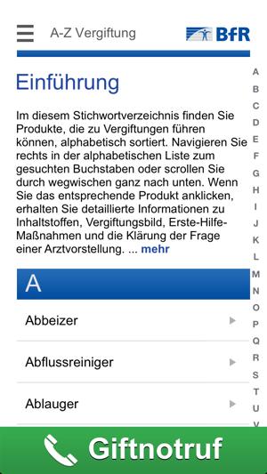 Vergiftungsunfälle bei Kindern Screenshot