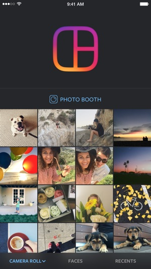 Layout from Instagram Screenshot