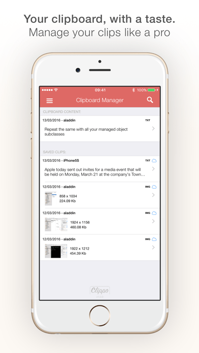 Clippo - Clipboard manager iPhone