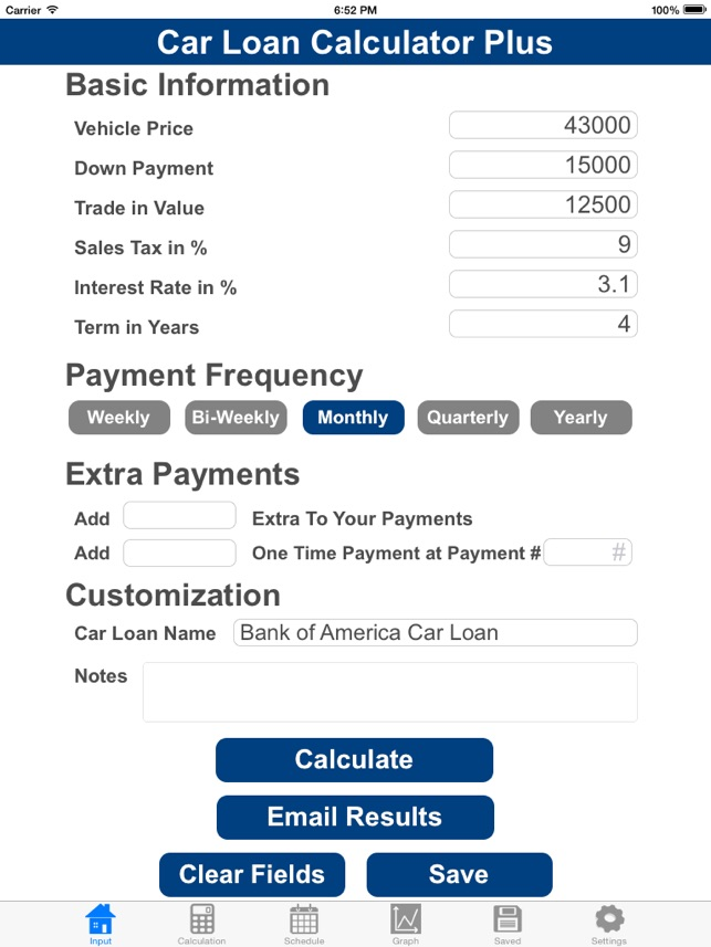 Car Loan Calculator With Extra Payments Bestmotor Co