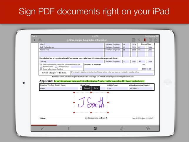 PDF Forms Screenshot