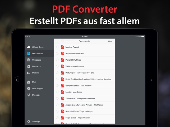 PDF Converter von Readdle Screenshot