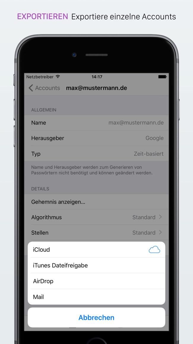 OTP Auth - 2FA für Pros Screenshot