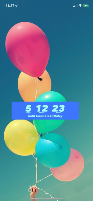 Birthday Countdown Im App Store
