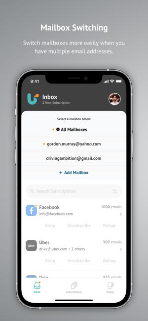 Unroll.Me - Email Cleanup Screenshot