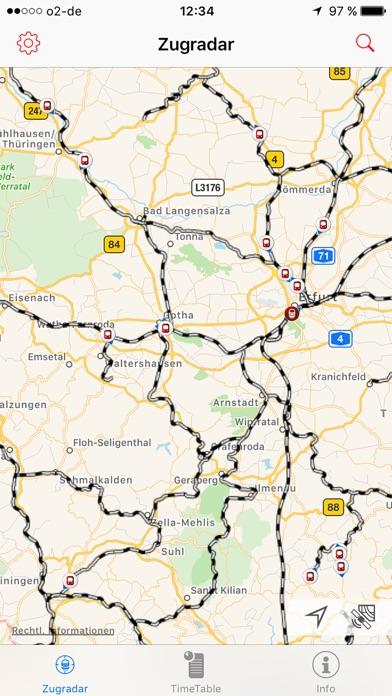 DB Zugradar Screenshot