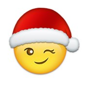 Emoji Added - Sticker with Christmas,Santa,Holiday