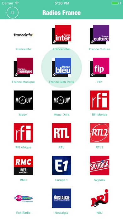 Znalezione obrazy dla zapytania Radios france aplikacja